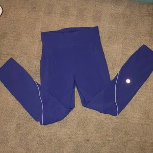 Lululemon purple leggings.